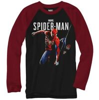 Spider-Man Long Sleeve Shirt, Kids Size M (10-12), L (14-16), Marvel