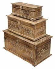 Truhe Schatzkiste Holzkiste Holztruhe in  3 verschiedenen Größen Aufbewahrung *