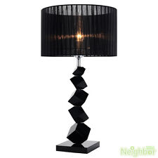 Modern Luxury Black Crystal LED Table Lamp Crystal Desk light For Bedroom