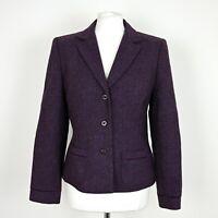 LAURA ASHLEY 100% Wool Blazer Jacket Size UK 12 Single breasted Formal Office
