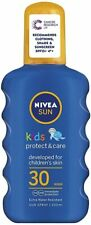 2 x NIVEA SUN KIDS PROTECT & CARE SPF30 SUN LOTION 200ml x 2 NEW
