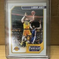 Lebron James 2019-20 19-20 Panini Chronicles Threads Los Angeles Lakers #86