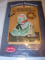 """COUNTRY PATTERNS RACHEL RABBIT SEWING MACHINE COVER DRESS CLOTHING PATTERN 24"""""""