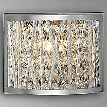 John Lewis Chrome Contemporary Wall Lights