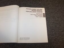2004 2005 2006 Toyota Camry Solara Shop Service Collision Damage Repair Manual