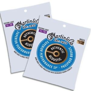 Martin MA535 Authentic Acoustic SP Phosphor Bronze 11-52 (2 Sets)