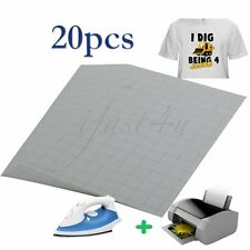 New 20 X A4 Iron On Inkjet T Shirt Heat Transfer Paper For Light Fabric Cloth