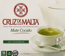 Yerba Mate Cruz de Malta - Mate Cocido - 50 tea bags, New, Free Shipping
