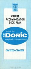 1970s Home Lines DORIC Tissue Deck Plan - ex-SHALOM from Zim Lines