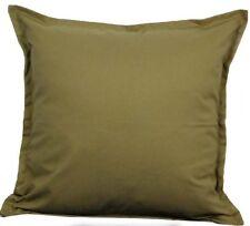 """Solid Tan Cotton Cushion Cover Home Decor Sofa Throw Pillow Case 18""""X18"""" Chair"""