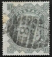 1883 QV SG131 10s Grey-Green Blued Paper GI Very Fine Used CV £5200 Scarce