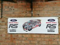 Ford fiesta RS   rally wrc large pvc  WORK SHOP BANNER garage