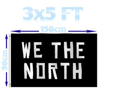 WE THE NORTH, TORONTO RAPTORS 3' X 5' FLAG BANNER - NEW, СUSTOM FLAG