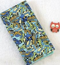 Handcrafted, Flannel Cars, Buses  & Teal Minky Bubble, Baby Burp Cloth