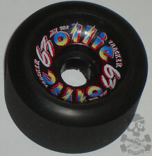 TRACKER Ollies Skateboard Wheels 92a 63mm Black - '80s Old School NOS