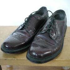 Vintage Jarman Burgundy LEATHER Mens Dress Shoes Brogue Oxford WINGTIPS 8.5D 42