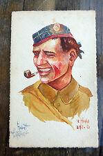 cpa 14 18 1916 robert lefebvre le havre aquarelle originale