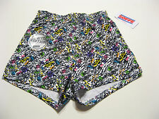 Soffe Juniors Pullup Shorts Small Painted Reptile Multi Gym Beach Athletic NEW