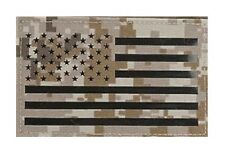 Avengers IR Reflective American Flag Patch - Left (AOR1)