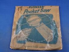 PIONEER POCKET SAW STEEL METAL CAMPING GARDENING SCOUT SPORTSMAN TOOL VINTAGE
