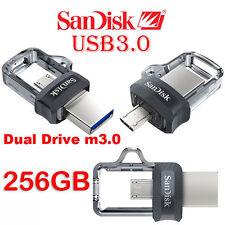 GENUINE NEW 256GB SanDisk Ultra OTG micro USB 3.0 Memory Stick Flash Drive