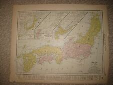ANTIQUE 1907 JAPAN FORMOSA YEZO RYUKYU KURILE CHISHIMA LUCHU ISLANDS MAP TAIWAN
