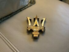 MASERATI PAPER WEIGHT RARE DECOR COLLECTIBLE keeper holder emblem