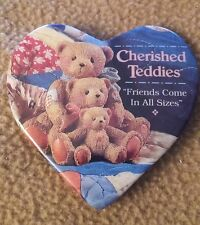 """Cherished Teddies Pin~ """"Friends Come In All Sizes"""""""