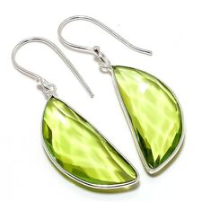 "Jewelry Earring 1.9"" Se6640 Peridot Gemstone Handmade Ethnic Fashion"