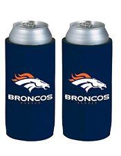 NFL Denver Broncos 24 oz TallBoy Neoprene - 2 pack
