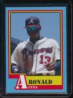 2018 Topps Throwback Thursday Ronald Acuna Jr. RC Card #124 Rookie SP