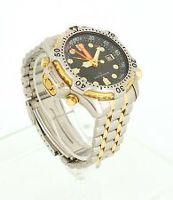CITIZEN PROMASTER DIVER MENS WATCH DATE TWO TONE STEEL BAND SENSOR 5861-F80057