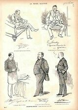 Député Escarguel Spuller Margaine Picard Félix Faure GRAVURE PRINT 1883