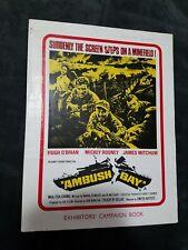 Ambush Bay Press Book - British Campaign Book - Mickey Rooney, Hugh O'Brian