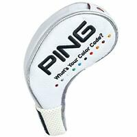 PING Golf Club Head Cover Color Code Iron Cover 8 Set White w/ Tracking NEW