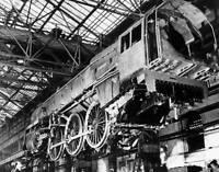 OLD TRAIN PHOTO Britannia steam locomotive under construction 1951