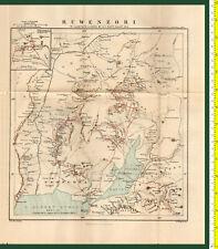 #41965 England1895. Vintage map of Ruwenzori [Africa]. Royal Geog.Society