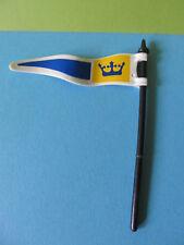PLaymobil*König Flagge blau weiss + Halterung Ritterburg 3268 Königsritterburg