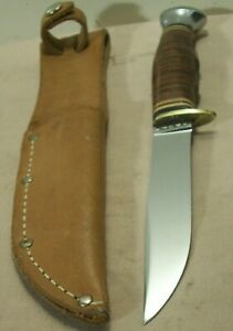1950s~KABAR HUNTING KNIFE~MINT UNUSED~ORIGINAL LEATHER SHEATH INCLUDED~EXCELLENT