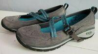 CHACO Petaluma Suede Mary Jane Comfort Shoe Gray Hiking Athletic Flat Women Sz 7