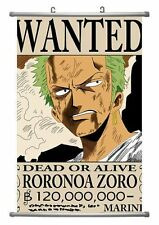 One Piece Anime Zoro Wanted Wall Scroll Large Size - 45x72 CM