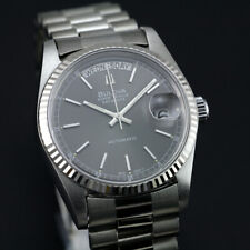 BULOVA SUPER SEVILLE DAY DATE GRAY DIAL SAPPHIRE CRYSTAL CHANGED SWISS WATCH