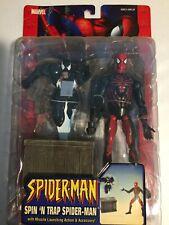 """Spider-Man 5.5"""" figure by Toy Biz Spin 'N Trap Spider-Man Marvel Legends Venom"""