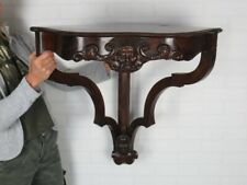 Antique Shelf Angled IN Wood With Shapes Apes Period XIX Century