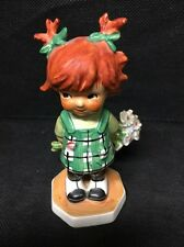 GOEBEL REDHEAD 1963 Dropping In Charlot Red Head Girl with flowers