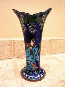 Antique Japanese Cloisonne Flared Vase