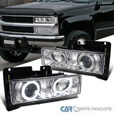 Fit 88-98 C10 C/K Silverado Sierra 94-99 Suburban Clear Projector Headlights
