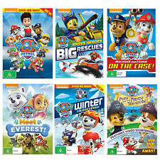 Paw Patrol 6 Movies Collection DVD Nickelodeon Brave Heroes, Big Rescue, Winter