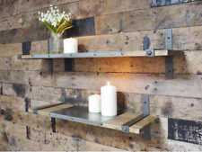Dutch Imports 4571 Set of 2 Industrial Wall Shelves 80cm & 60cm