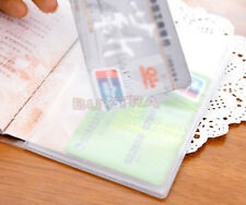 Enduring Stylish Clear Transparent Passport Cover Holder ID Card Protector BR